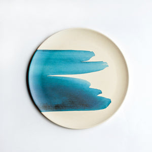 Blue wave dinner plate  NEW SIZE d.25cm