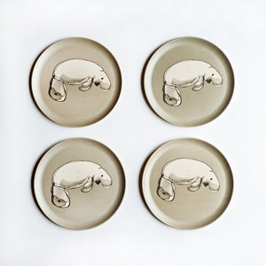 Bamboo Plates with Dugong Design