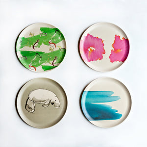 Bamboo Plates set of four with Multi Designs
