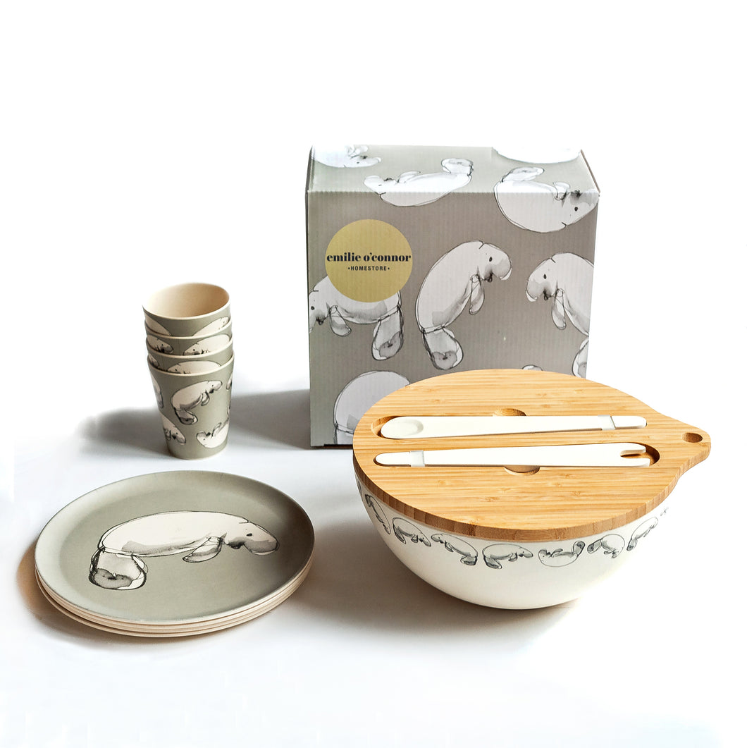 Dinnerware Set with Dugong Design