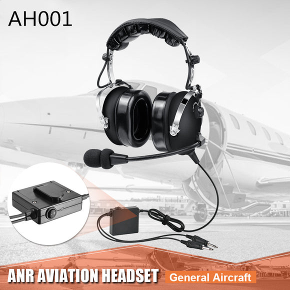 ANR aviation headset  free shipping Noise Cancelling Pilot headset  AH001