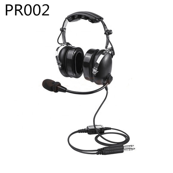 High Quality Aviation Headsets With Comfortable Ear Seals PNR Nosic Cancelling GA Dual Plug Black PR002 aviation headsets for pilots
