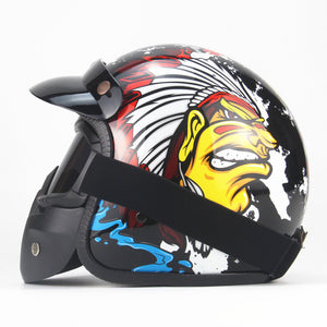 Indian motorcycle Harley helmet retro helmet classic helmet men's electric helmet retro helmet