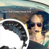 Aviation headset aviation headphones passive noise cancelling for pilot and passenger