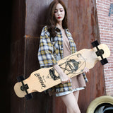Longboard Jane new skateboard beginner boys and girls brush street longboard skateboard