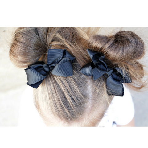 3 Inch Hair Bows - On Alligator Clips