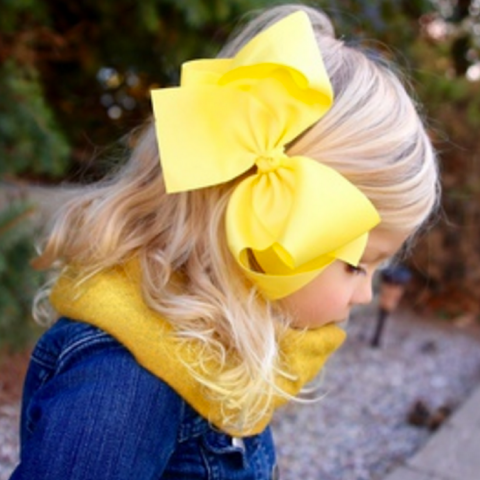 6 Inch Hair Bow - Jumbo XL