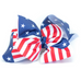 American Flag Hair Bow - 3, 5, & 6 Inch