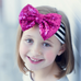 Striped Headband With Sparkle Sequin Bow