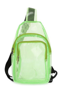 INSIDE MASH CLEAR ONE SHOULDER BACKPACK(AO8010) <Bundle>
