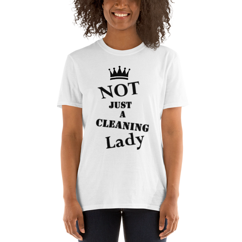 Official Not Just a Cleaning Lady T-Shirt (Crew + Front Only)