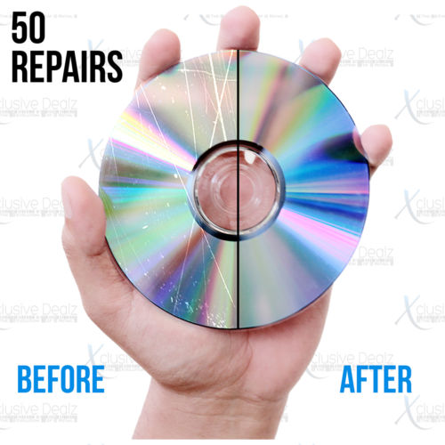 (50) Professional Disc Repairs For Any Video Game, CD, DVD, or Blu-ray