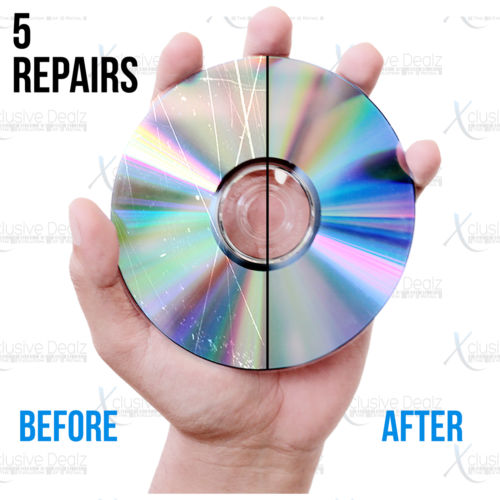 (5) Professional Disc Repairs For Any Video Game, CD, DVD, or Blu-ray