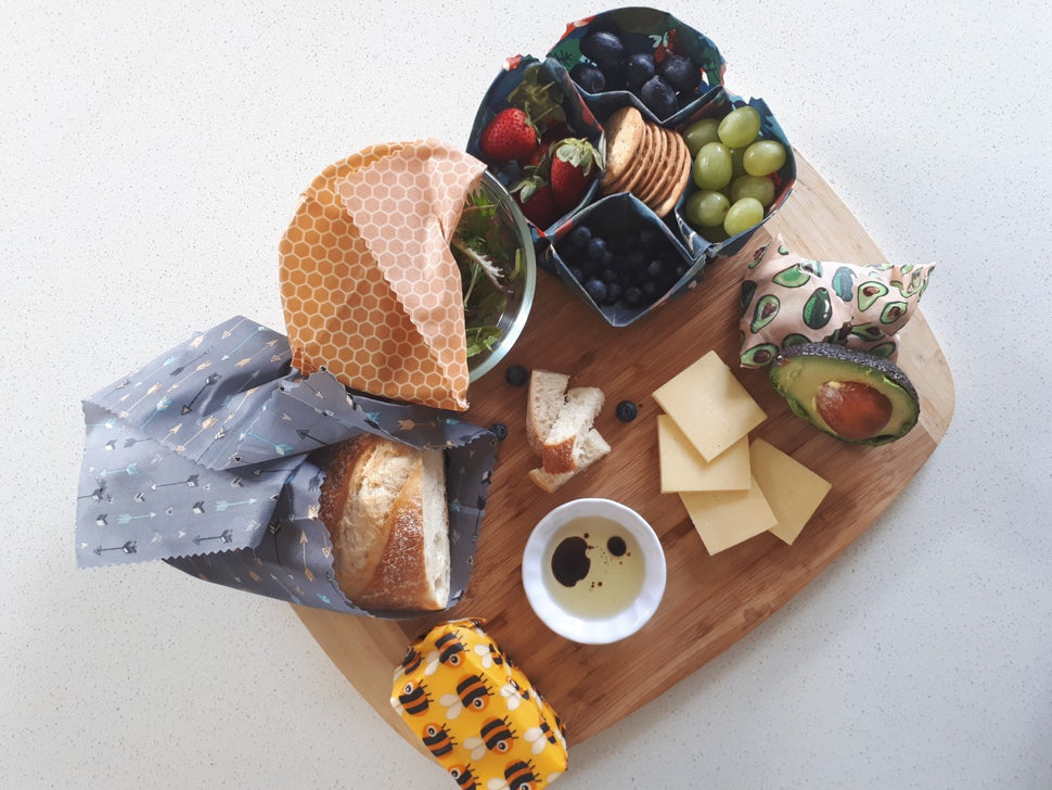 Beeswax wraps sharing platter