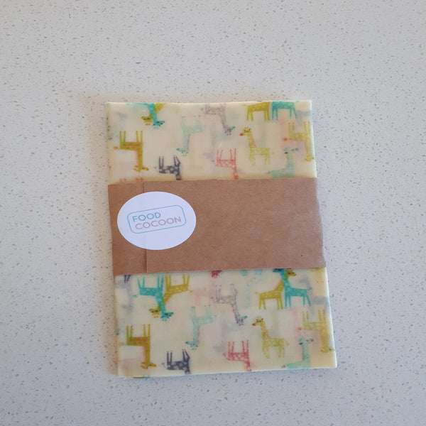 Giraffes Extra Large Single Beeswax Food Wrap