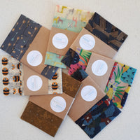 Honey Bees Mixed Set of 3 Beeswax Food Wraps