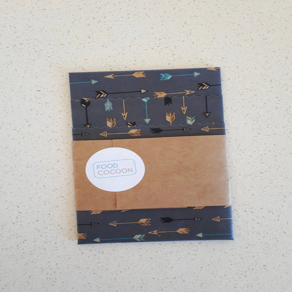 Arrows Mixed Set of 3 Beeswax Food Wraps
