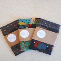 Random Set of 3 Large Beeswax Food Wraps