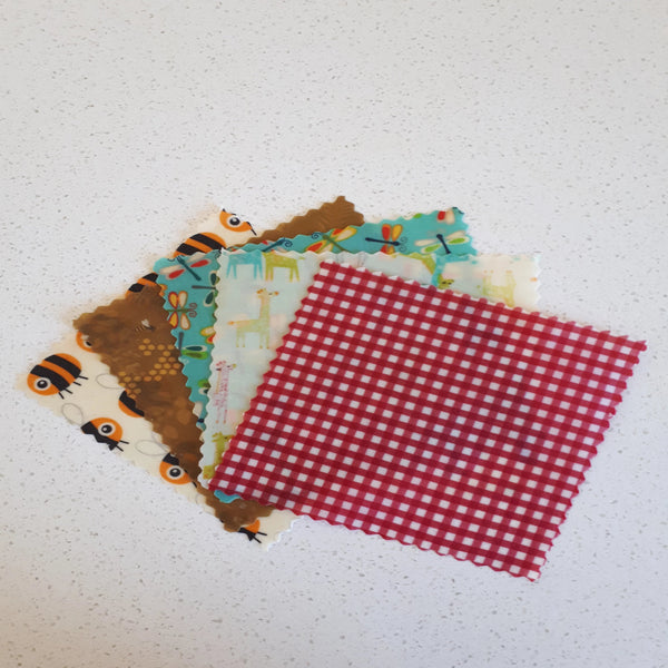 Jam Jar Set of 5 Beeswax Wraps - Mixed Patterns