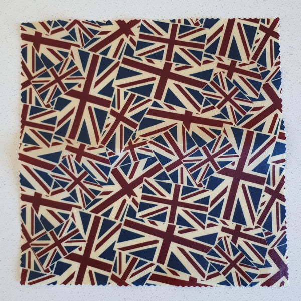 Set of 2 Union Jack Large Beeswax Food Wraps