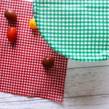All the Ginghams Set of 3 Medium Beeswax Food Wraps