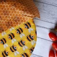 Buzzy Bees & Honeycomb Set of 3 Medium Beeswax Food Wraps