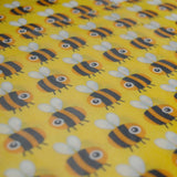 Buzzy Bees (yellow) Mixed Set of 3 Beeswax Food Wraps