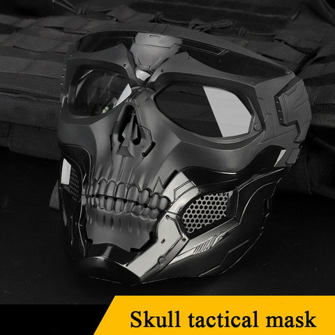 Skull Face Tactical Mask for Fast Helmet