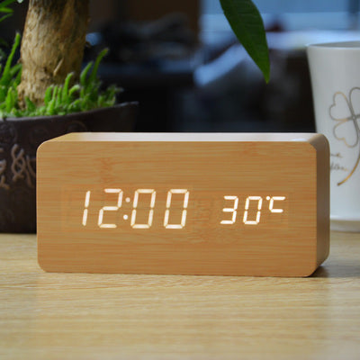 Wooden LED Alarm Clock