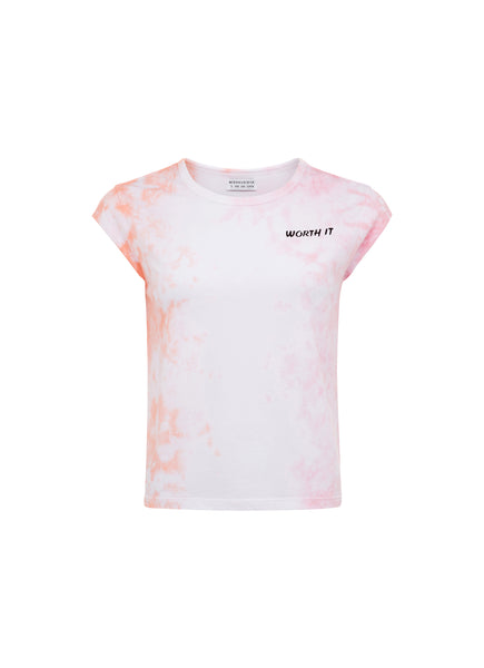 WORTH IT TEE - SHERBET TIE DYE