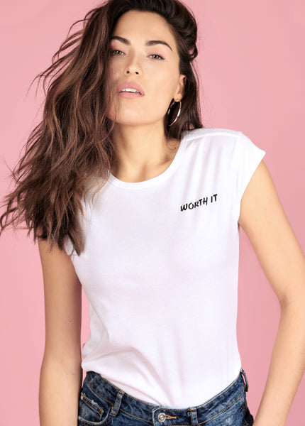 WORTH IT TEE - WHITE
