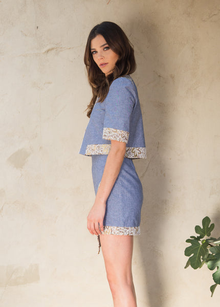 ANALENA SKIRT - CHAMBRAY