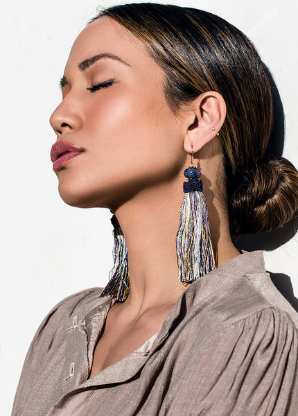 MOON-RIVER TASSEL EARRINGS