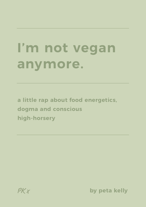 Im not vegan anymore