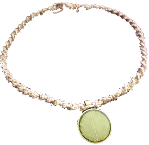 Hemp Necklace with Kratom Leaf Pendant