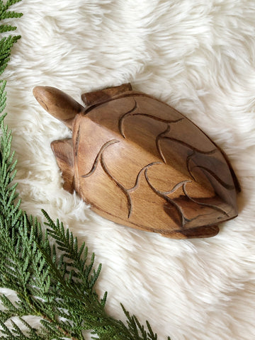 Handcrafted Wooden Sea Turtle