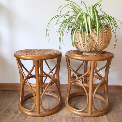 Vintage Bamboo Plant Stands