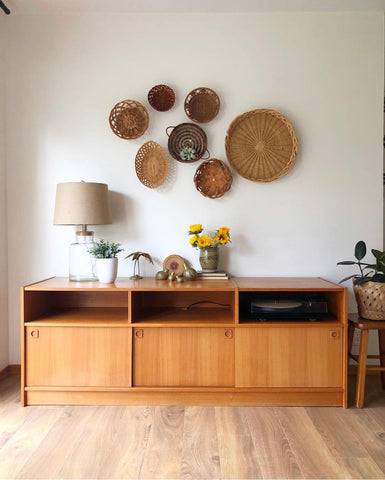 Vintage Mid Century Teak Medial Console Made in Denmark