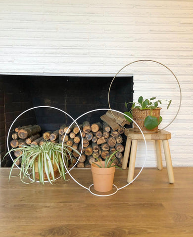Mid Century Plant Hanging Hoops