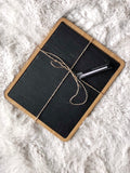Brand New Core Bamboo & Slate Cheese Board w/ Pen