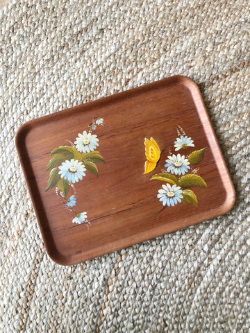 Hand Painted Wooded Tray Made in Sweden