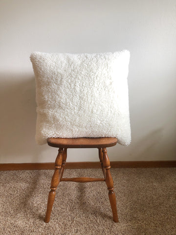 "Brand new 24""x24"" white throw pillow or floor cushion very soft and cozy"