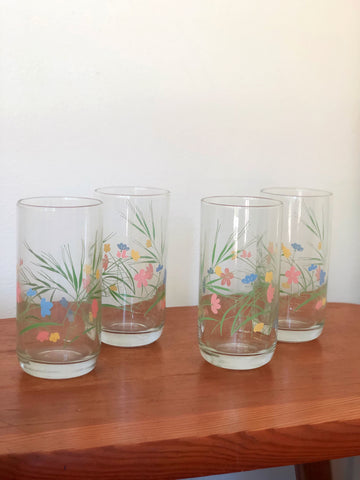 Set of Four Vintage Tumbler Drinking Glasses