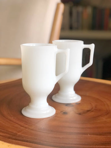 Pair of Vintage white Espresso Mugs