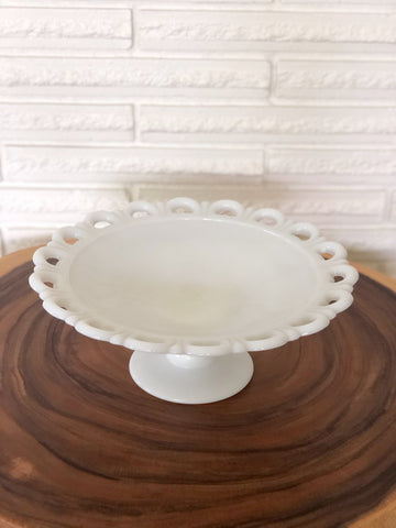 Beautiful Milk Glass Dish or Stand