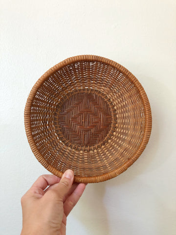 "Wicker basket 8"" wide"