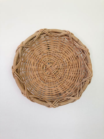 Large Woven Basket Bowl or Centerpiece
