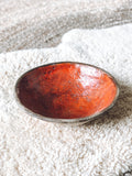 Beautiful stoneware Bowl w/ Red/Orange Inside