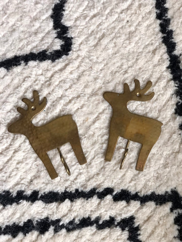 Pair of reindeer hooks