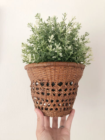 Wicker Wall Planter Basket